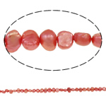 Baroque Cultured Freshwater Pearl Beads, red, 4-8mm, Hole:Approx 0.8mm, Sold Per 14.5 Inch Strand
