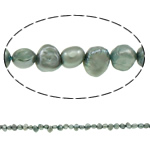 Baroque Cultured Freshwater Pearl Beads, grey, 5-6mm, Hole:Approx 0.8mm, Sold Per 14 Inch Strand