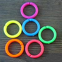 Akrylowy Pierścień łączący, Akryl, Pączek, mieszane kolory, 25mm, 1000komputery/torba, sprzedane przez torba