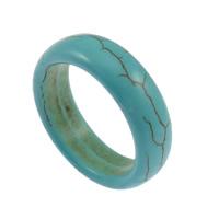 кольца из бирюзы, Синтетическая бирюза, голубой, 7mm, размер:7, 100ПК/Лот, продается Лот