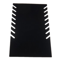 Velveteen Necklace Display Paper with Velveteen Rectangle black Healthy Bracelet 280x190mm 20PCs/Lot