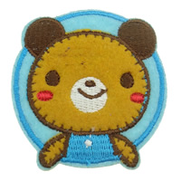 Iron on Patches, Cloth, Bear, 55x55mm, 35PCs/Bag, Sold By Bag