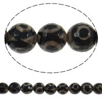 Natural Tibetan Agate Dzi Beads, Round, 12mm, Hole:Approx 1mm, Length:Approx 14.5 Inch, 5Strands/Lot, Sold By Lot