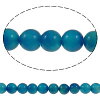 Natural Lace Agate Beads, Round, different size for choice, blue, Hole:Approx 1.2mm, Length:Approx 15 Inch, Sold By Lot