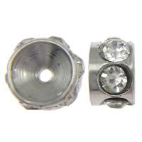 Ruostumaton teräs Välike helmiä, 303 Stainless Steel, Rondelli, tekojalokivi, alkuperäinen väri, 3x6mm, Reikä:N. 1mm, 100PC/erä, Myymät erä