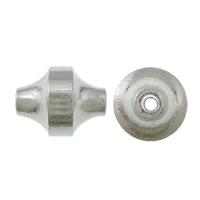 Messing kralen, platinum plated, nikkel, lood en cadmium vrij, 12x10x10mm, Gat:Ca 1.5mm, 200pC's/Lot, Verkocht door Lot