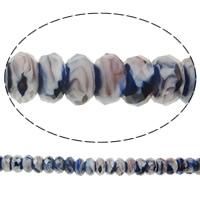 Кристальные бусины Европейская стиль, Кристалл миллефиори, Круглая форма, без Тролль, 14x7mm, отверстие:Приблизительно 5mm, 50ПК/Strand, Продан через 14 дюймовый Strand