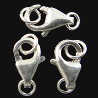 925 Sterling Silver Lobster Claw Clasp platinum plated 5.30x9.50x2.50mm Hole:Approx 2-3.2mm 10PCs/Bag