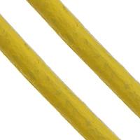 Sznurek skóra bydlęca, Sznur z krowiej skóry, żółty, bez zawartości niklu, ołowiu i kadmu, 2mm, długość:około 100 m, sprzedane przez PC