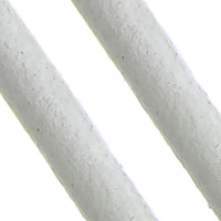 Cowhide Cord, white, nickel, lead & cadmium free, 2mm, Length:Approx 100 m, Sold By PC