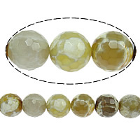 Natural Fire Crackle Agate Beads, Fire Agate, Round, faceted, 8mm, Hole:Approx 1mm, Length:Approx 16 Inch, 10Strands/Lot, Approx 51PCs/Strand, Sold By Lot