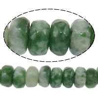Natural Green Spot Stone Beads, Rondelle, faceted, 2x4mm, Hole:Approx 0.5mm, Length:Approx 15 Inch, 10Strands/Lot, Approx 160PCs/Strand, Sold By Lot