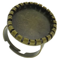 Brass Bezel Ring Base, antique bronze color plated, nickel, lead & cadmium free, 22x29x2mm, Size:8, 100PCs/Bag, Sold By Bag