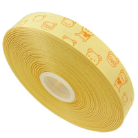 Grosgrain Ribbon printing cartoon pattern   single-sided yellow 22mm 55m/Lot