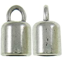 Końcówka ze stopu cynku, Stop cynku, Platerowane kolorem starego srebra, bez zawartości niklu, ołowiu i kadmu, 8x14mm, otwór:około 3x4mm, około 550komputery/KG, sprzedane przez KG