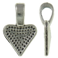 Zinc Alloy Glue on Bail, Triangle, antique silver color plated, nickel, lead & cadmium free, 10x15.50x1.50mm, Hole:Approx 3-5mm, Approx 2000PCs/KG, Sold By KG