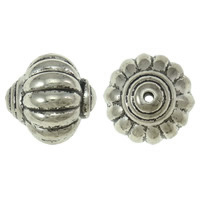 Copper Coated Plastic Beads, Lantern, antique silver color plated, lead & cadmium free, 27x26.5mm, Hole:Approx 2.5mm, 10PCs/Bag, Sold By Bag