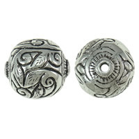Copper Coated Plastic Beads, Drum, antique silver color plated, lead & cadmium free, 35x34x37mm, Hole:Approx 4mm, Sold By PC