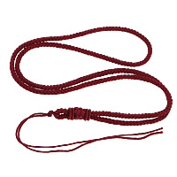 Fashion Necklace Cord, Nylon Cord, deep red, 3mm, Length:Approx 26 Inch, 100Strands/Lot, Sold By Lot