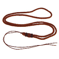 Fashion Necklace Cord, Nylon Cord, brown, 3mm, Length:Approx 26 Inch, 100Strands/Lot, Sold By Lot