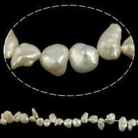 Reborn Cultured Freshwater Pearl Beads, Keishi, natural, white, 4-6mm, Hole:Approx 0.8mm, Sold Per Approx 15 Inch Strand