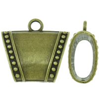 Zinc Alloy Scarf Slide Bail, Trapezium, antique bronze color plated, lead & cadmium free, 38x36x16mm, Hole:Approx 5mm, Sold By PC