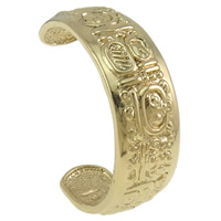Zinc Alloy Cuff Bangle, gold color plated, nickel, lead & cadmium free, 65x52x20mm, Length:Approx 7 Inch, Sold By PC