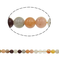 Natural Quartz Jewelry Beads, Rutilated Quartz, mixed, 8mm, Hole:Approx 0.8mm, Length:Approx 15.5 Inch, 5Strands/Lot, Approx 49PCs/Strand, Sold By Lot