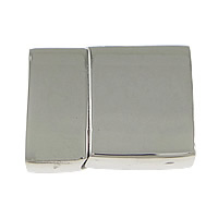 Stainless Steel Magnetic Clasp, Rectangle, original color, 33x24.70x9.80mm, Hole:Approx 21x6mm, Inner Diameter:Approx 4mm, 5PCs/Lot, Sold By Lot