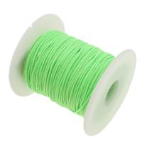 Przewód nylonowy, Sznur nylonowy, zielony fluorescencyjny, 1mm, długość:około 50 stoczni, sprzedane przez PC