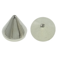 Copper Coated Plastic Findings, Cone, platinum color plated, nickel, lead & cadmium free, 8x7mm, Approx 5000PCs/KG, Sold By KG