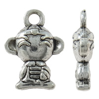 Character Shaped Zinc Alloy Pendants, Cartoon, antique silver color plated, nickel, lead & cadmium free, 11x15x4mm, Hole:Approx 2mm, Approx 765PCs/KG, Sold By KG