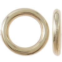 Copper Coated Plastic Linking Ring Donut gold color plated nickel lead   cadmium free 15x2mm 10Bags/Lot