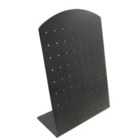 Plastic Earring Display, PVC Plastic, Rectangle, black, 90x130mm, 40PCs/Lot, Sold By Lot