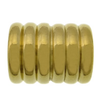 Stainless Steel Bracelet Finding, 304 Stainless Steel, Tube, gold color plated, 14x11.50mm, Hole:Approx 6mm, 100PCs/Lot, Sold By Lot
