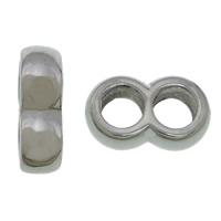 Elementy bransolety ze stali nierdzewnej, Stal nierdzewna 304, Numer 8, oryginalny kolor, 4x12mm, otwór:około 4mm, 100komputery/wiele, sprzedane przez wiele