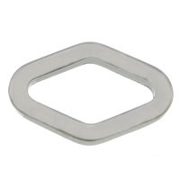 Roestvrij staal ring connectors, 304 roestvrij staal, Ruit, oorspronkelijke kleur, 19x12.50x2.50mm, 500pC's/Lot, Verkocht door Lot