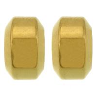 Roestvrijstaal Grote Gat Kralen, 304 roestvrij staal, Rondelle, gold plated, groot gat, 7x11mm, Gat:Ca 6.5mm, 100pC's/Lot, Verkocht door Lot