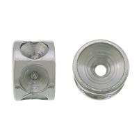 Stainless Steel Helmet asetus, 304 Stainless Steel, Rondelli, alkuperäinen väri, 3.50x5mm, Reikä:N. 1mm, Sisäläpimitta:N. 2mm, 500PC/erä, Myymät erä