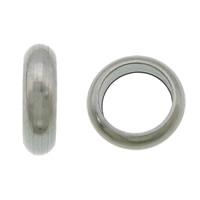 Roestvrijstaal Grote Gat Kralen, 304 roestvrij staal, Donut, groot gat, oorspronkelijke kleur, 1.20x4mm, Gat:Ca 2.8mm, 1000pC's/Lot, Verkocht door Lot