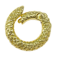 Zinc Alloy Jewelry Clasp, Donut, gold color plated, nickel, lead & cadmium free, 14x13x3mm, Hole:Approx 6mm, 100PCs/Lot, Sold By Lot