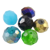 Crystal Beads, mixed, 4-12mm, Hole:Approx 1-2mm, Sold By Bag