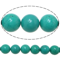 Turquoise Beads, Round, 16mm, Hole:Approx 1.5mm, Length:Approx 16 Inch, Approx 10Strands/KG, Approx 25PCs/Strand, Sold By KG