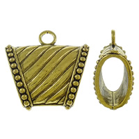 Zinc Alloy Scarf Slide Bail, antique gold color plated, lead & cadmium free, 39x38x18mm, Hole:Approx 5mm, Sold By PC