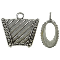 Zinc Alloy Scarf Slide Bail, antique silver color plated, lead & cadmium free, 39x38x18mm, Hole:Approx 5mm, Sold By PC