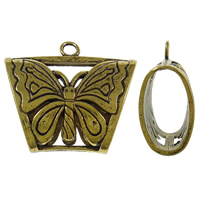 Zinc Alloy Scarf Slide Bail, antique gold color plated, lead & cadmium free, 39x35x16.50mm, Hole:Approx 4mm, Sold By PC
