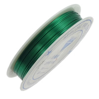 Brass Wire, with Plastic, stoving varnish, green, nickel, lead & cadmium free, 0.50mm, Length:10 m, 20PCs/Lot, Sold By Lot