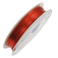 Mosiężny przewód, Mosiądz, ze Plastik, Glazurowane, czerwony, bez zawartości niklu, ołowiu i kadmu, 0.50mm, długość:10 m, 20komputery/wiele, sprzedane przez wiele