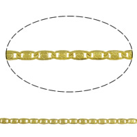 Brass Valentino Chain gold color plated with heart pattern nickel lead   cadmium free 3.50x7.80x0.70mm Length:Approx 100 m