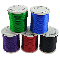 Nylon Cord, with plastic spool, without elastic, South Korea Imported, mixed colors, 2mm, Length:5 m, 10Bags/Lot, 10m/Bag, Sold By Lot